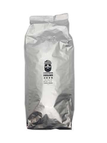 Beard Vet Excellence Coffee 2.5 lb bag: Zero Dark 30 Espresso - WHOLE BEAN