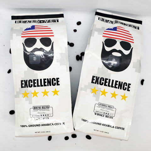 SPECIAL: 2 Bags of Beard Vet Excellence Coffee $22.50 (Reg. $25.98)
