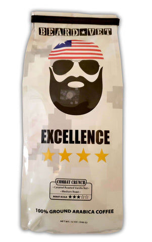 Beard Vet Excellence Coffee: Combat Crunch - WHOLE BEAN