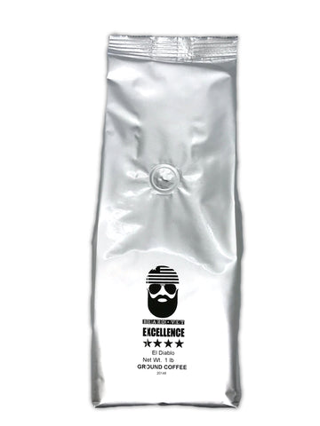 Beard Vet Excellence Coffee - 1 lb. Bag - El Diablo  - GROUND