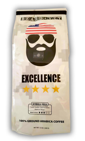 Beard Vet Excellence Coffee: Guerilla Nilla - WHOLE BEAN