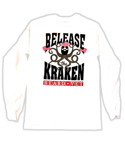 Beard Vet Kraken:  Release the Kraken Long Sleeve tshirt
