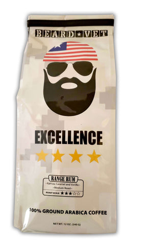 Beard Vet Excellence Coffee: Range Rum - WHOLE BEAN