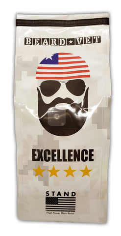 Beard Vet Excellence Coffee: High Power Dark Roast - WHOLE BEAN