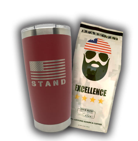 SPECIAL -- 20 oz. Beard Vet Red Tumbler & Coffee combo