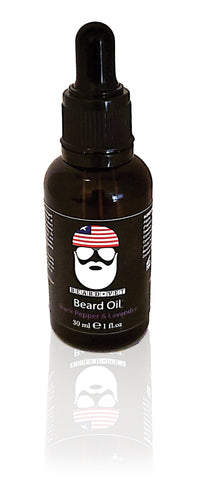 Beard Vet Beard Oil - Black Pepper & Lavender Scent - BUY ANY OIL GET FREE BALM