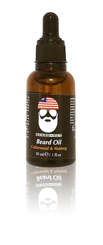Beard Vet Beard Oil - Cedarwood & Nutmeg Scent - BUY ANY OIL GET FREE BALM