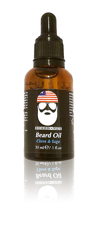 Beard Vet Beard Oil - Clove & Sage Scent - BUY ANY OIL GET FREE BALM