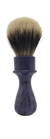 Badger Shaving Brush (Blue Marble Handle) + FREE shaving cream