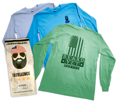 Beard Vet Coffee Long Sleeve Shirt & Coffee Combo