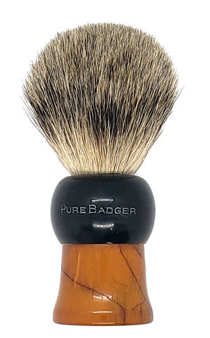 Badger Shaving Brush (Black and Brown Handle) + FREE shaving cream