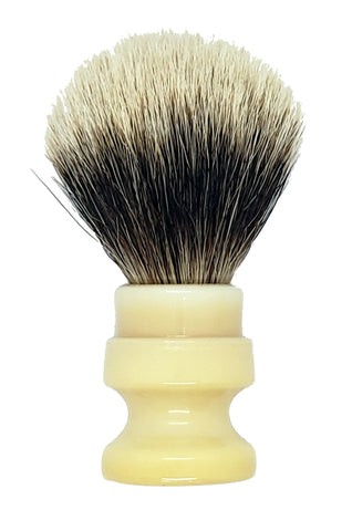 Badger Shaving Brush (Yellow Handle) + FREE shaving cream