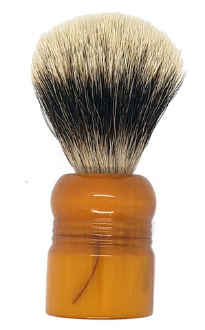 Badger Shaving Brush (Dark Brown Handle) + FREE shaving cream