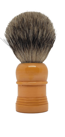 Badger Shaving Brush (Light Brown Handle) + FREE shaving cream