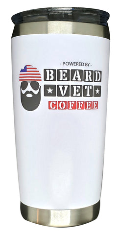 Beard Vet 20 oz. tumbler - White