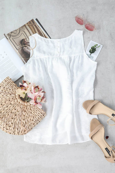 Orsle Simple Life White Symmetry Tank