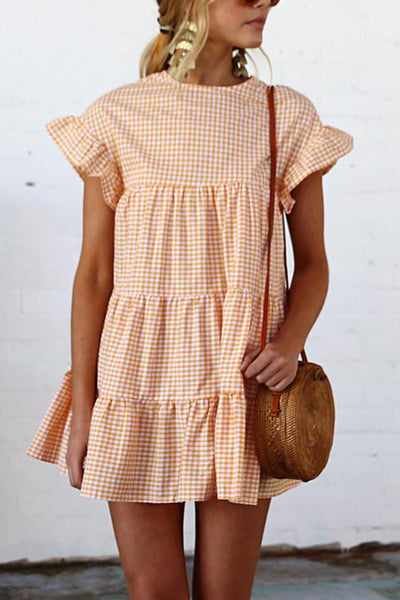 Orsle Tiered Gingham Dress