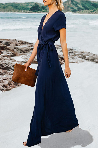 Orsle Off Shoulder Ruffle Loose Fit Maxi Dress
