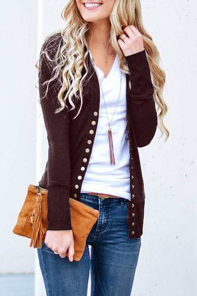 Orsle Button Knitwear Long Sleeve Cardigan