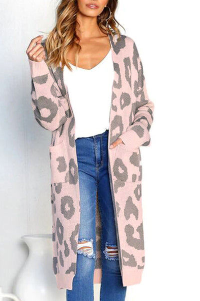 Orsle Casual Printed Long Cardigan