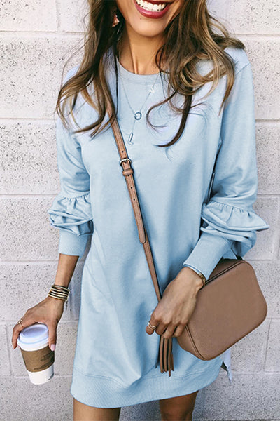 Orsle Casual Heaps Sleeves Mini Dress