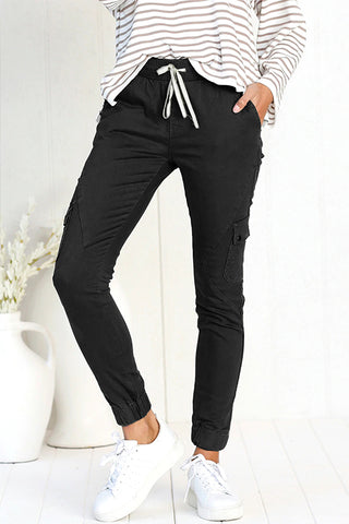 Orsle Casual Chic Drawstring Pockets Jogger Pants