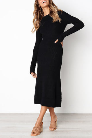Orsle Casual Long Sleeve Knitting Dresses