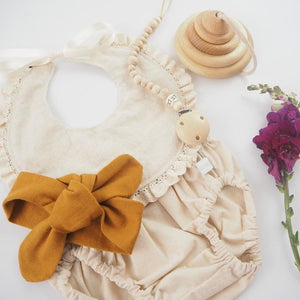 Top Knot Headband / Mustard (PRE-ORDER 20 SEP) - Dear Isla