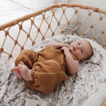 Bamboo Muslin Swaddle Wrap / Wild Meadow (PRE-ORDER EARLY MAR) - Dear Isla