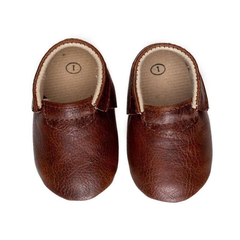 Sweet n Swag Modern Mox Shoes / Chestnut