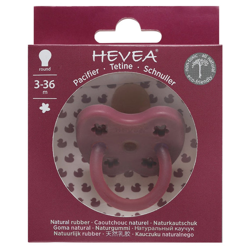 Hevea Pacifier / Round / 3-36M / Ruby Flower