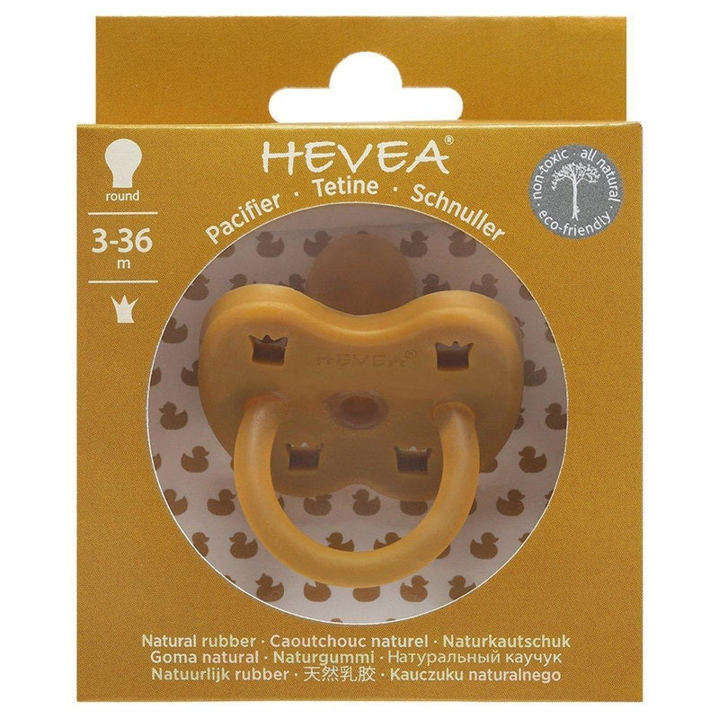 Hevea Pacifier / Round / 3-36M / Turmeric Crown