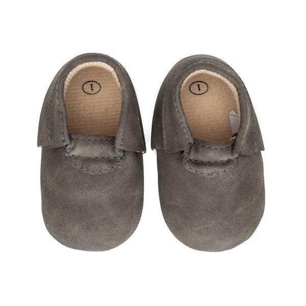 Sweet n Swag Modern Mox Shoes / Dark Grey