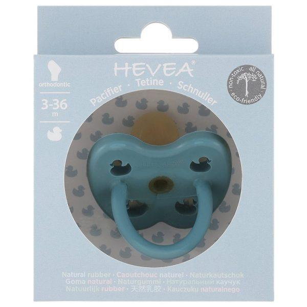 Hevea Pacifier / Orthodontic / 3-36M / Twilight Blue Duck