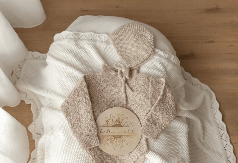 Ziggy Lou Heirloom Knit Blanket / Milk