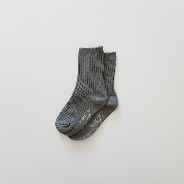 Precious April Skyler Cotton Socks / Slate Blue