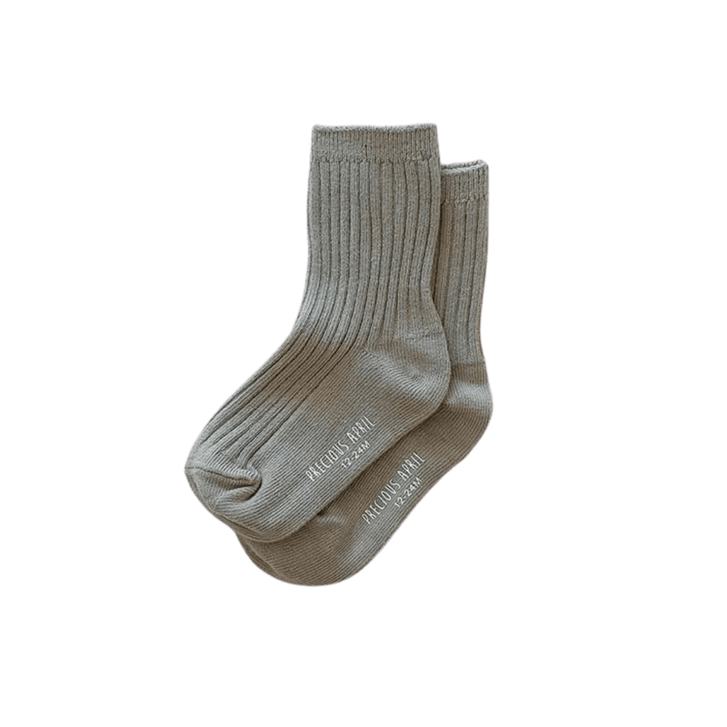 Precious April Skyler Cotton Socks / Steel Grey