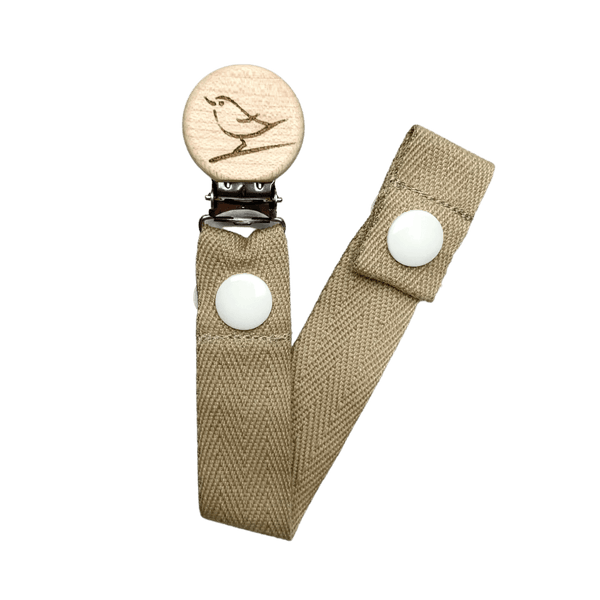 Our Little Helpers Dummy Clip Cotton / Beige Bird