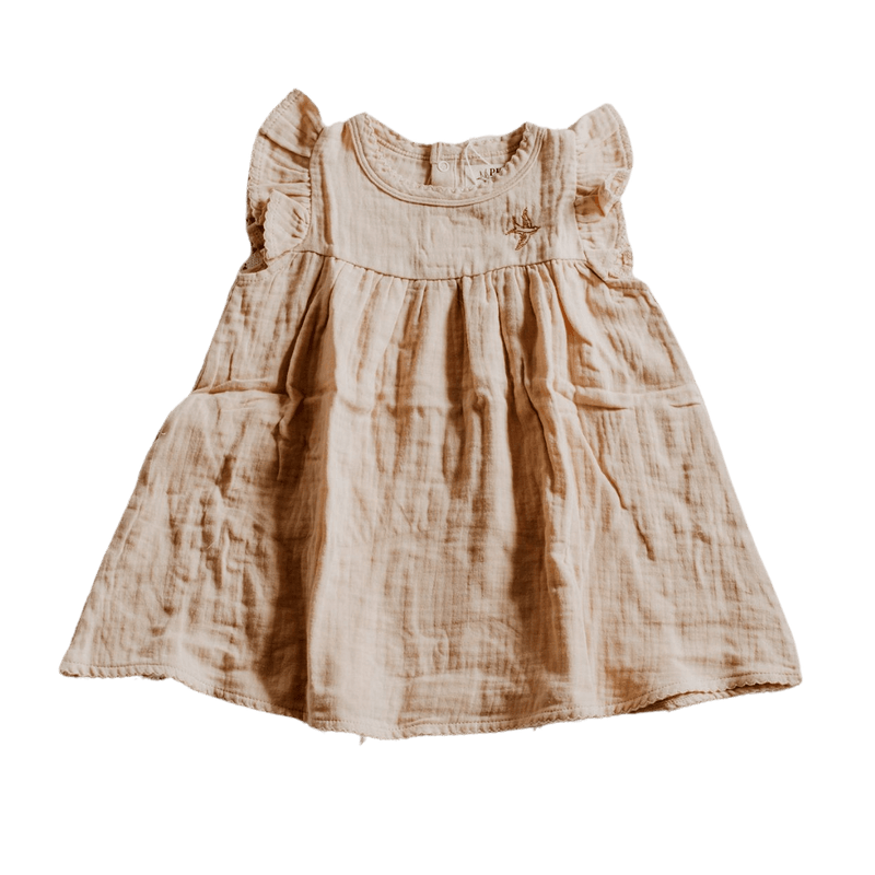 Piper Bug Muslin Dress / Honey