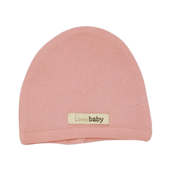 L'oved Baby Organic Matching Beanie / Coral
