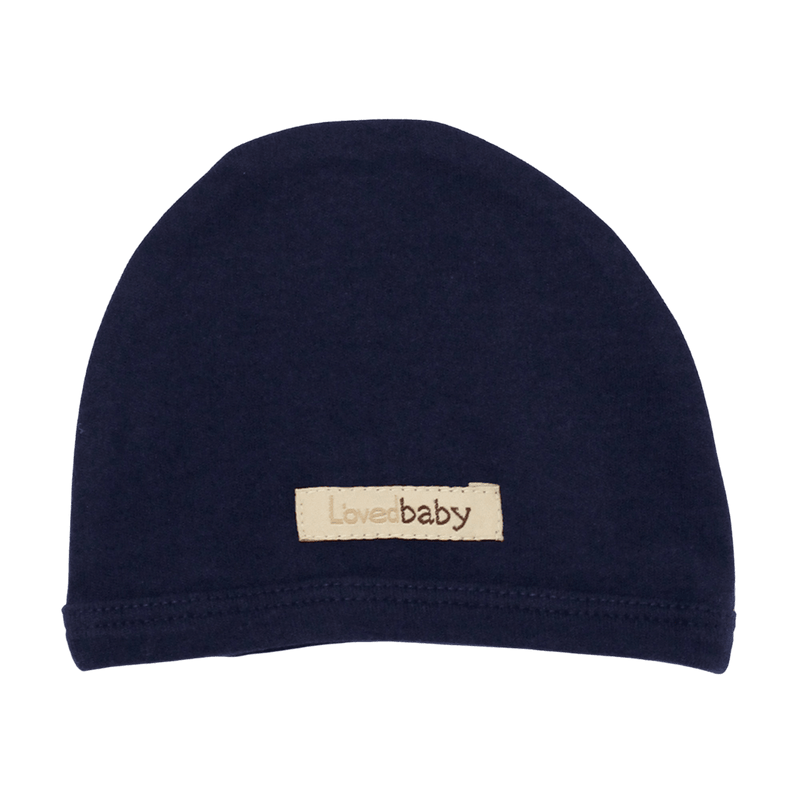L'oved Baby Organic Matching Beanie / Navy