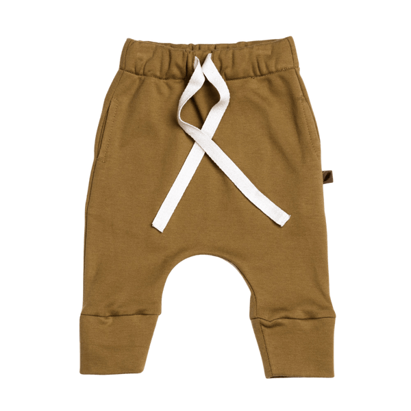 KidWild Organic Drawstring Pants / Curry