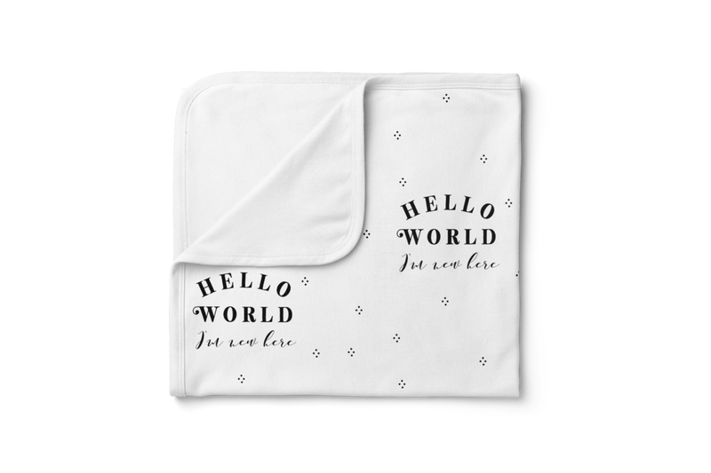 Piper Bug Jersey Swaddle Blanket / Hello World