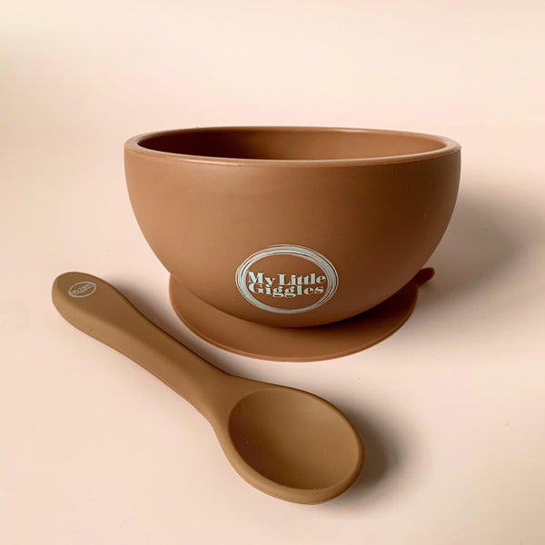 My Little Giggles Bowl + Spoon Set / Clay