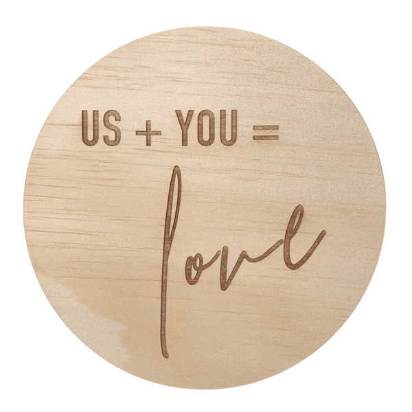 Hello Fern Wooden Disc / Us + You (Various Designs)