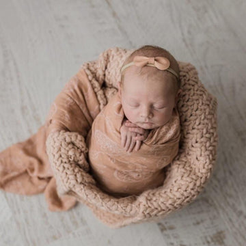 Bamboo Muslin Swaddle Wrap / Clay Boho Dreams - Dear Isla