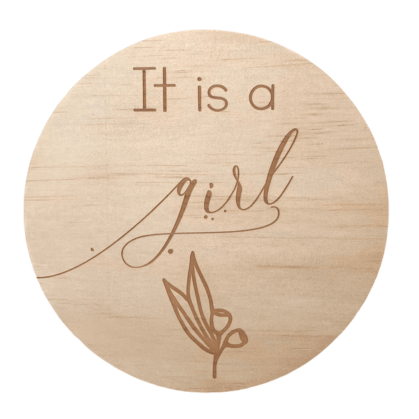 Hello Fern Wooden Disc / It's A Girl (Various Designs)