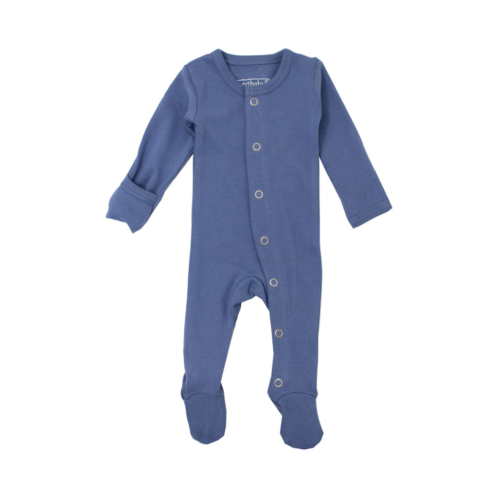 Newborn Organic Footed Overall / Slate (PRE-ORDER LATE SEP) - Dear Isla