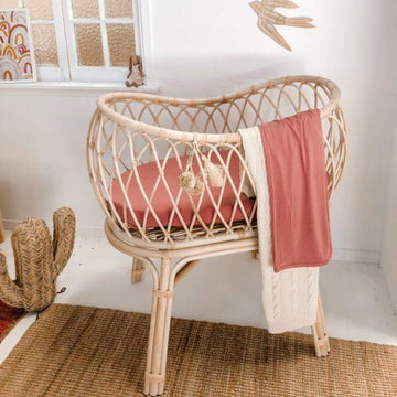 Bassinet Sheet / Bamboo Jersey / Mauve Rose (PRE-ORDER EARLY MAR) - Dear Isla