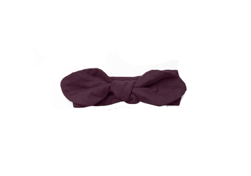 Piper Bug Muslin Wrap Bow / Plum - Dear Isla